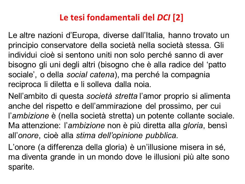 Le tesi fondamentali del DCI [2]